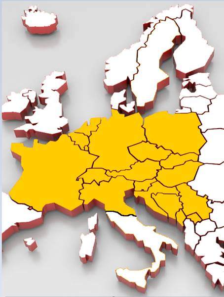 Karte Süddeutschland österreich Schweiz.Europa